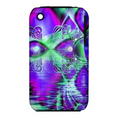 Violet Peacock Feathers, Abstract Crystal Mint Green Apple Iphone 3g/3gs Hardshell Case (pc+silicone) by DianeClancy