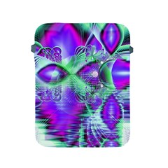 Violet Peacock Feathers, Abstract Crystal Mint Green Apple Ipad Protective Sleeve by DianeClancy