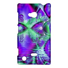 Violet Peacock Feathers, Abstract Crystal Mint Green Nokia Lumia 720 Hardshell Case by DianeClancy