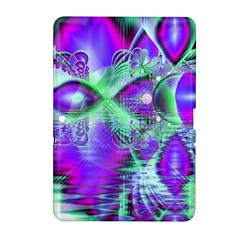 Violet Peacock Feathers, Abstract Crystal Mint Green Samsung Galaxy Tab 2 (10 1 ) P5100 Hardshell Case  by DianeClancy