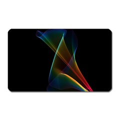 Abstract Rainbow Lily, Colorful Mystical Flower  Magnet (rectangular) by DianeClancy