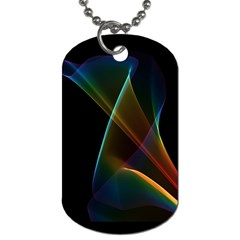 Abstract Rainbow Lily, Colorful Mystical Flower  Dog Tag (Two-sided)