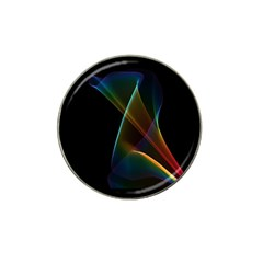 Abstract Rainbow Lily, Colorful Mystical Flower  Golf Ball Marker 4 Pack (for Hat Clip) by DianeClancy