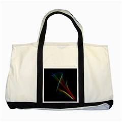 Abstract Rainbow Lily, Colorful Mystical Flower  Two Toned Tote Bag by DianeClancy