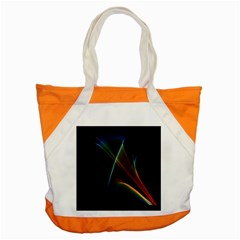 Abstract Rainbow Lily, Colorful Mystical Flower  Accent Tote Bag by DianeClancy