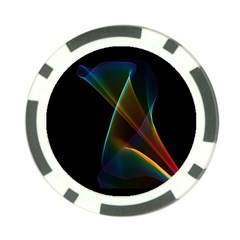 Abstract Rainbow Lily, Colorful Mystical Flower  Poker Chip by DianeClancy