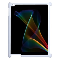 Abstract Rainbow Lily, Colorful Mystical Flower  Apple Ipad 2 Case (white) by DianeClancy