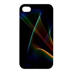 Abstract Rainbow Lily, Colorful Mystical Flower  Apple Iphone 4/4s Hardshell Case by DianeClancy