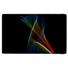 Abstract Rainbow Lily, Colorful Mystical Flower  Apple Ipad 2 Flip Case by DianeClancy