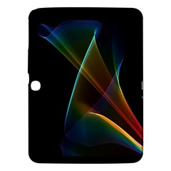 Abstract Rainbow Lily, Colorful Mystical Flower  Samsung Galaxy Tab 3 (10 1 ) P5200 Hardshell Case  by DianeClancy