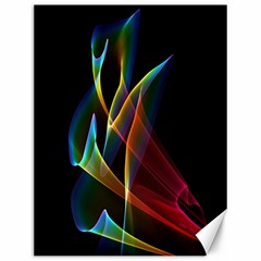 Peacock Symphony, Abstract Rainbow Music Canvas 12  X 16  (unframed) by DianeClancy