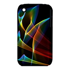 Peacock Symphony, Abstract Rainbow Music Apple Iphone 3g/3gs Hardshell Case (pc+silicone) by DianeClancy