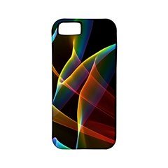 Peacock Symphony, Abstract Rainbow Music Apple Iphone 5 Classic Hardshell Case (pc+silicone) by DianeClancy