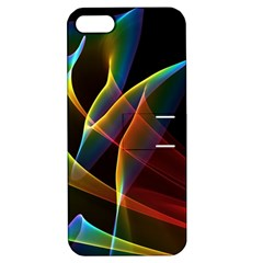 Peacock Symphony, Abstract Rainbow Music Apple Iphone 5 Hardshell Case With Stand by DianeClancy