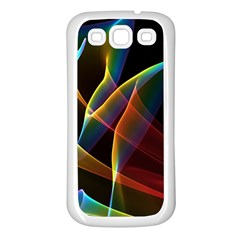 Peacock Symphony, Abstract Rainbow Music Samsung Galaxy S3 Back Case (white) by DianeClancy