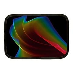 Liquid Rainbow, Abstract Wave Of Cosmic Energy  Netbook Sleeve (medium) by DianeClancy