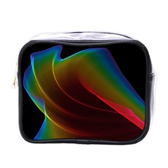 Liquid Rainbow, Abstract Wave Of Cosmic Energy  Mini Travel Toiletry Bag (one Side) by DianeClancy
