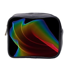 Liquid Rainbow, Abstract Wave Of Cosmic Energy  Mini Travel Toiletry Bag (two Sides) by DianeClancy