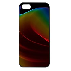Liquid Rainbow, Abstract Wave Of Cosmic Energy  Apple Iphone 5 Seamless Case (black) by DianeClancy