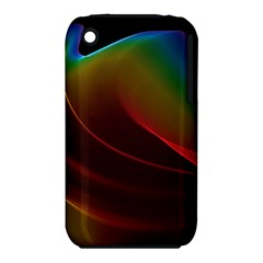 Liquid Rainbow, Abstract Wave Of Cosmic Energy  Apple Iphone 3g/3gs Hardshell Case (pc+silicone) by DianeClancy