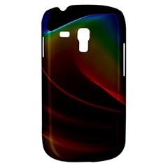 Liquid Rainbow, Abstract Wave Of Cosmic Energy  Samsung Galaxy S3 Mini I8190 Hardshell Case by DianeClancy