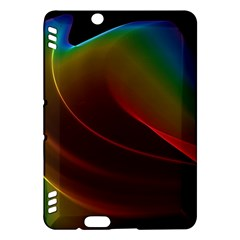 Liquid Rainbow, Abstract Wave Of Cosmic Energy  Kindle Fire Hdx 7  Hardshell Case by DianeClancy