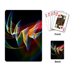 Northern Lights, Abstract Rainbow Aurora Playing Cards Single Design by DianeClancy