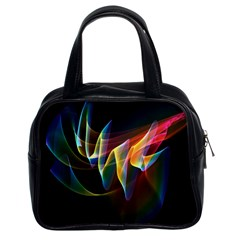 Northern Lights, Abstract Rainbow Aurora Classic Handbag (two Sides) by DianeClancy