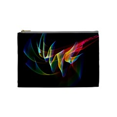 Northern Lights, Abstract Rainbow Aurora Cosmetic Bag (medium) by DianeClancy