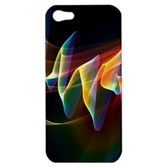 Northern Lights, Abstract Rainbow Aurora Apple Iphone 5 Hardshell Case by DianeClancy