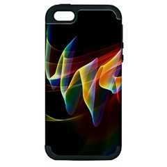 Northern Lights, Abstract Rainbow Aurora Apple Iphone 5 Hardshell Case (pc+silicone) by DianeClancy