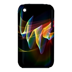 Northern Lights, Abstract Rainbow Aurora Apple Iphone 3g/3gs Hardshell Case (pc+silicone) by DianeClancy