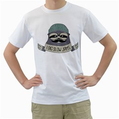 Hipster Sloth s Got Soul Men s T-Shirt (White)  by Contest1861806