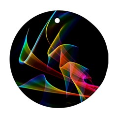 Crystal Rainbow, Abstract Winds Of Love  Round Ornament by DianeClancy