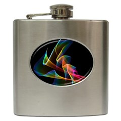 Crystal Rainbow, Abstract Winds Of Love  Hip Flask by DianeClancy