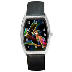 Crystal Rainbow, Abstract Winds Of Love  Tonneau Leather Watch by DianeClancy