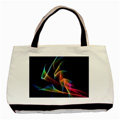 Crystal Rainbow, Abstract Winds Of Love  Twin Sided Black Tote Bag by DianeClancy