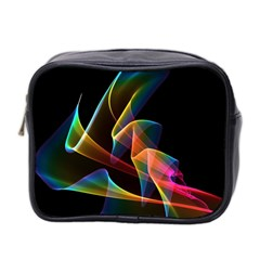 Crystal Rainbow, Abstract Winds Of Love  Mini Travel Toiletry Bag (two Sides) by DianeClancy