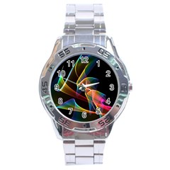 Crystal Rainbow, Abstract Winds Of Love  Stainless Steel Watch by DianeClancy