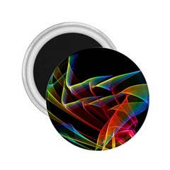 Dancing Northern Lights, Abstract Summer Sky  2 25  Button Magnet by DianeClancy