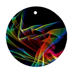 Dancing Northern Lights, Abstract Summer Sky  Round Ornament (two Sides) by DianeClancy