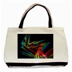Dancing Northern Lights, Abstract Summer Sky  Twin Sided Black Tote Bag by DianeClancy