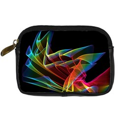 Dancing Northern Lights, Abstract Summer Sky  Digital Camera Leather Case by DianeClancy