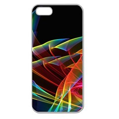 Dancing Northern Lights, Abstract Summer Sky  Apple Seamless Iphone 5 Case (clear) by DianeClancy
