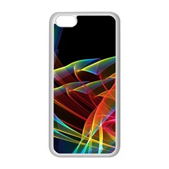Dancing Northern Lights, Abstract Summer Sky  Apple Iphone 5c Seamless Case (white) by DianeClancy