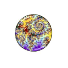 Desert Winds, Abstract Gold Purple Cactus  Golf Ball Marker 4 Pack (for Hat Clip) by DianeClancy