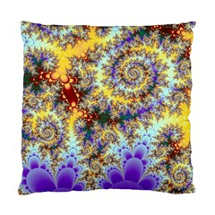 Desert Winds, Abstract Gold Purple Cactus  Cushion Case (single Sided)  by DianeClancy