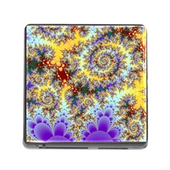 Desert Winds, Abstract Gold Purple Cactus  Memory Card Reader With Storage (square) by DianeClancy