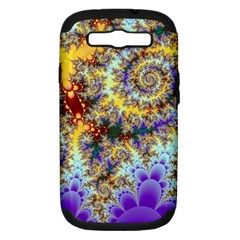 Desert Winds, Abstract Gold Purple Cactus  Samsung Galaxy S Iii Hardshell Case (pc+silicone) by DianeClancy