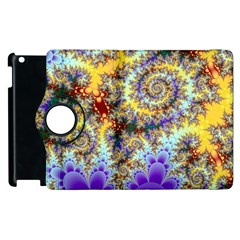 Desert Winds, Abstract Gold Purple Cactus  Apple Ipad 2 Flip 360 Case by DianeClancy